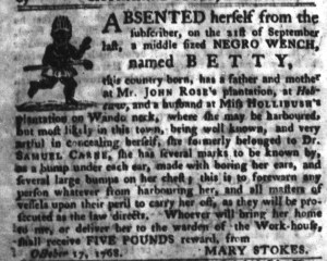 Nov 1 - South-Carolina Gazette and Country Journal Slavery 7