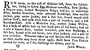 Nov 10 - Pennsylvania Gazette Supplement Slavery 1