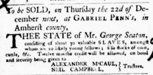 Nov 10 - Virginia Gazette Purdie and Dixon Slavery 4
