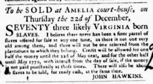 Nov 10 - Virginia Gazette Purdie and Dixon Slavery 5