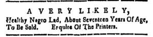 Nov 11 - New-Hampshire Gazette Slavery 1