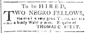 Nov 11 - South-Carolina and American General Gazette Slavery 8