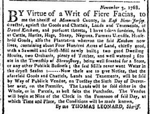 Nov 14 - New-York Gazette Weekly Post-Boy Slavery 1