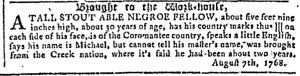 Nov 16 - Georgia Gazette Slavery 11