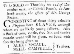 Nov 3 - Virginia Gazette Rind Slavery 2