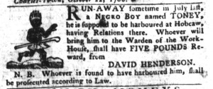 Nov 8 - South-Carolina Gazette and Country Journal Slavery 14