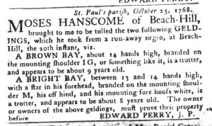 Nov 8 - South-Carolina Gazette and Country Journal Slavery 9