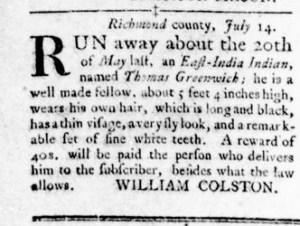 Oct 13 - Virginia Gazette Rind Slavery 10
