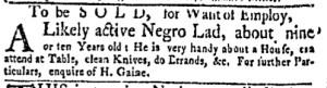 Oct 17 - New-York Gazette Weekly Mercury Slavery 2