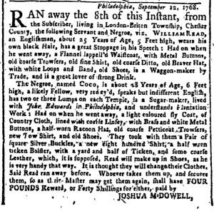 Oct 17 - New-York Gazette Weekly Post-Boy Slavery 1