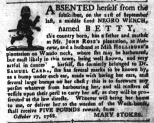 Oct 18 - South-Carolina Gazette and Country Journal Slavery 4