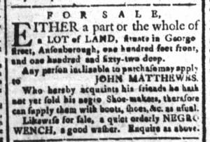 Oct 21 - South-Carolina and American General Gazette Slavery 2