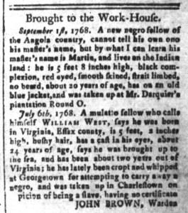 Oct 21 - South-Carolina and American General Gazette Slavery 5