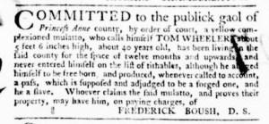 Oct 27 - Virginia Gazette Purdie and Dixon Supplement Slavery 2