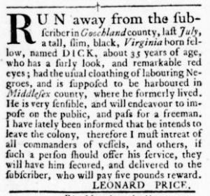 Oct 27 - Virginia Gazette Rind Slavery 10