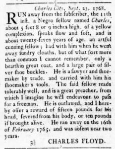 Oct 27 - Virginia Gazette Rind Slavery 3