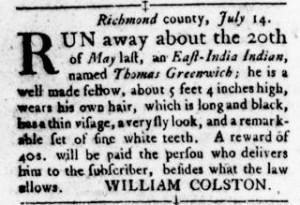 Oct 27 - Virginia Gazette Rind Slavery 6