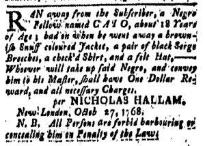 Oct 28 - New-London Gazette Slavery 1