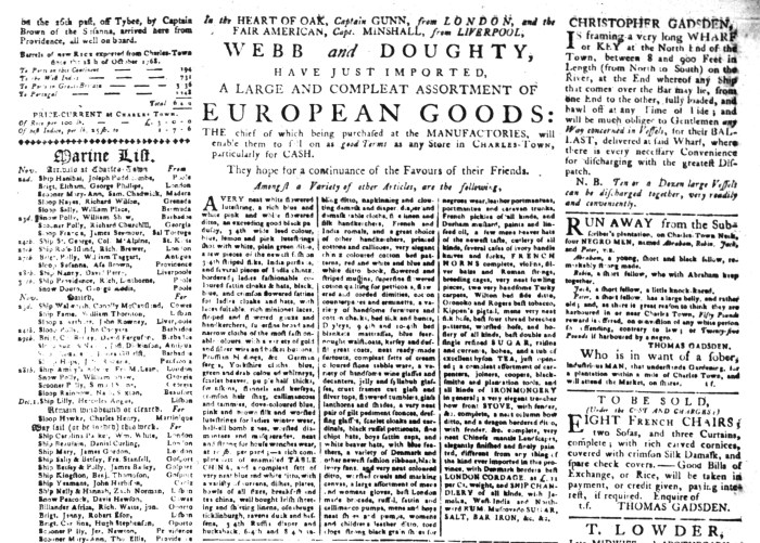 Dec 1 - 12:1:1768 South-Carolina Gazette