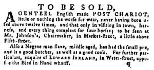 Dec 1 - Pennsylvania Gazette Supplement Slavery 4