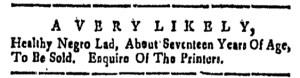 Dec 2 - New-Hampshire Gazette Slavery 1