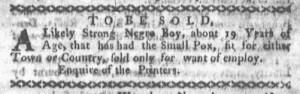 Dec 5 - Boston-Gazette Slavery 1