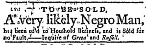 Dec 5 - Massachusetts Gazette Green and Russell Slavery 1