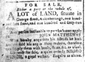 Dec 5 - South-Carolina and American General Gazette Slavery 2