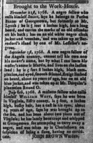 Dec 5 - South-Carolina and American General Gazette Slavery 5