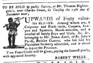 Nov 29 - South-Carolina Gazette and Country Journal Slavery 8