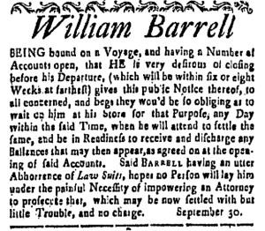 Nov 4 - 11:4:1768 New-Hampshire Gazette