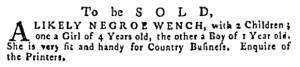May 11 - Pennsylvania Gazette Supplement Slavery 2
