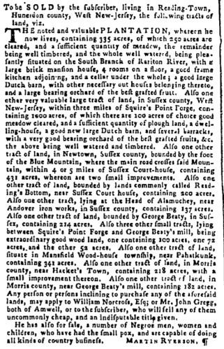 May 11 - Pennsylvania Gazette Supplement Slavery 3