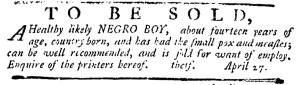 May 11 - Pennsylvania Journal Supplement Slavery 2