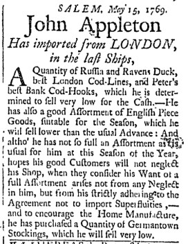 May 16 - 5:16:1769 Essex Gazette