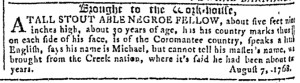 May 17 - Georgia Gazette Slavery 11
