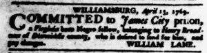 May 18 - Virginia Gazette Purdie and Dixon Slavery 7