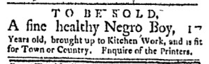 May 22 - Boston Evening-Post Slavery 3