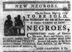 May 25 - South-Carolina Gazette Slavery 1