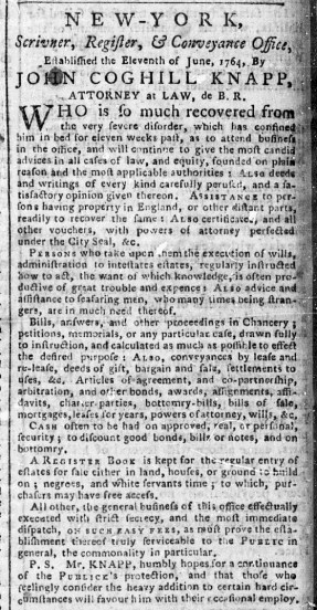 May 29 - New-York Chronicle Slavery 1