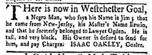 May 8 - New-York Gazette Weekly Mercury Slavery 3