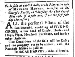 May 8 - South-Carolina and American General Gazette Slavery 10
