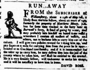 Jul 6 - Virginia Gazette Purdie and Dixon Slavery 2