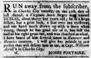 Jul 6 - Virginia Gazette Rind Slavery 3