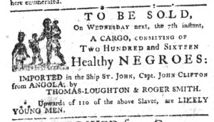 Jun 1 - South-Carolina Gazette Slavery 1