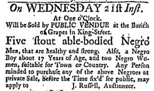 Jun 12 - Massachusetts Gazette Green and Russell Slavery 1