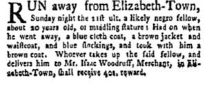 Jun 12 - New-York Gazette Weekly Mercury Slavery 1