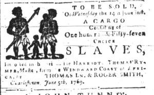 Jun 12 - South-Carolina and American General Gazette Slavery 4