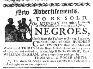 Jun 15 - South-Carolina Gazette Slavery 1