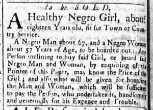 Jun 20 - Essex Gazette Slavery 1